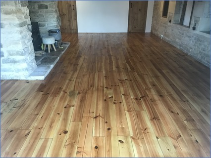 Pine floor finished with fiddles oil wax