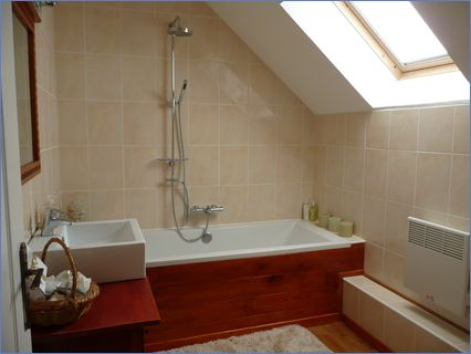 Outbuilding conversion finished bathroom