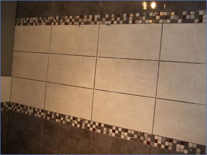 bathroom tiling in progess