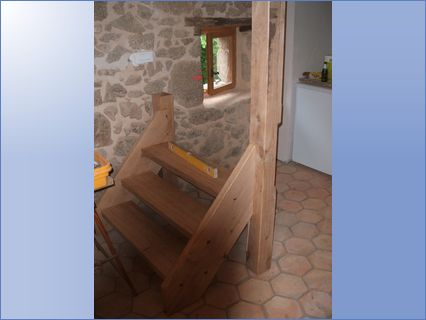 Hand crafted oak stair case
