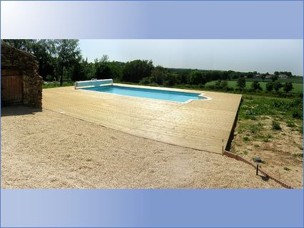 Decking and pool at Salvaison