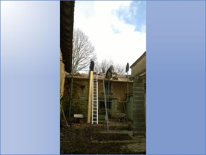 project involving raising roof and re-ti