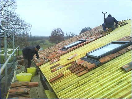 Traditional re-tiling with velux