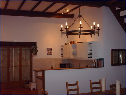 finished interior of barn conversion
