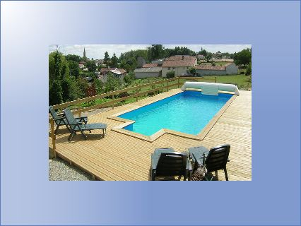 Timber pool and decking gite complex