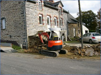 Removing wall and digging footings